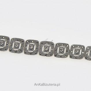 Bransoletka ze srebra i markazytów - Best-seller miesiąca.