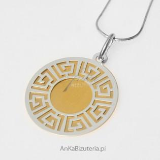 """Wisior srebrny pokryty 14 karatowym złotem - """"Iris - grecka bogini"""""""