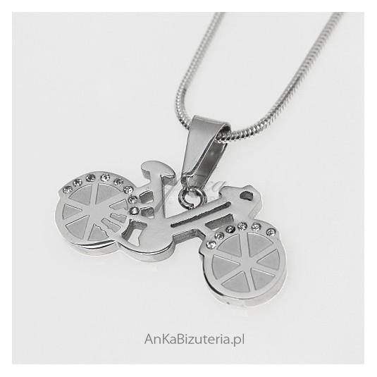 Rower z kryształkami Swarovski - oryginalna biżuteria ze stali szlachetnej