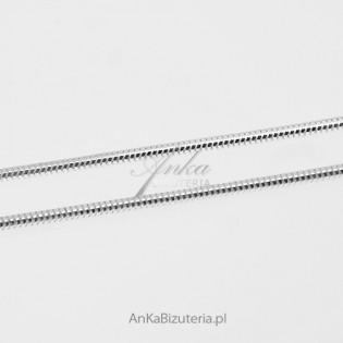 Łańcuszek srebrny do większych zawieszek - linka okrągła gruba matowa 55cm
