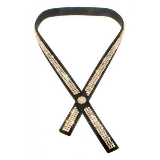 Ekstrawagancki naszyjnik-krawat z kryształów SWAROVSKI ELEMENTS.