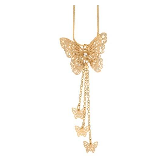 Piękny naszyjnik 14 karatowym złotem z kryształem duńskiej firmyDansk Smykkekunst