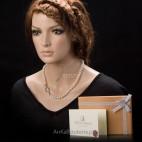 Piękny naszyjnik z pereł w stylu lat 50. Coco Chanel