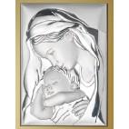Obrazek srebrny - pamiątka na chrzest, komunie