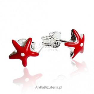 Kolczyki srebrne rodowane dla dziewczynek - Motylki