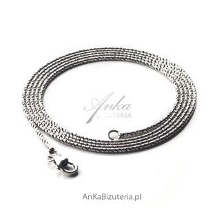 Łańcuszek srebrny oksydowany 70 cm