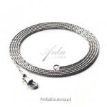 Łańcuszek srebrny oksydowany 80 cm