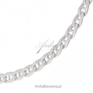 Łańcuszek srebrny ozdobny - Marina- 45 cm - ciekawy splot .