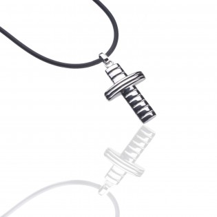 Krzyżyk na kauczuku - stal szlachetna 45 cm i 50cm