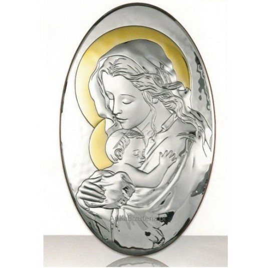 Maryja matka -tuląca maleńkiego Jezusa 6*10cm GRAWER