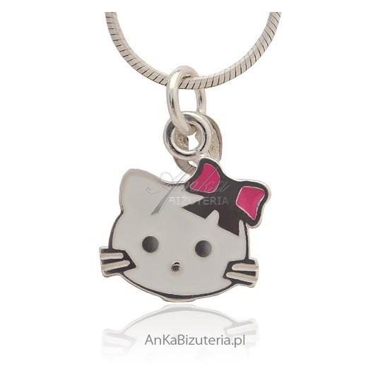 Biżuteria dla dzieci Hello Kitty - wisiorek srebrny