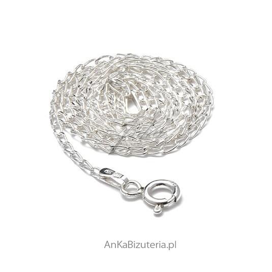 Łańcuszek srebrny long 50 cm do zawieszek.