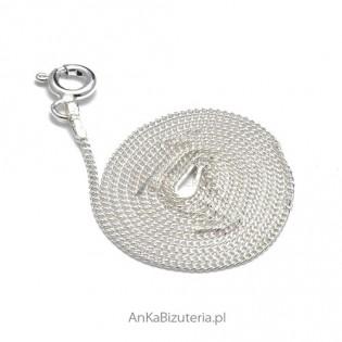 Łańcuszek srebrny pancerka - 45cm do zawieszek.