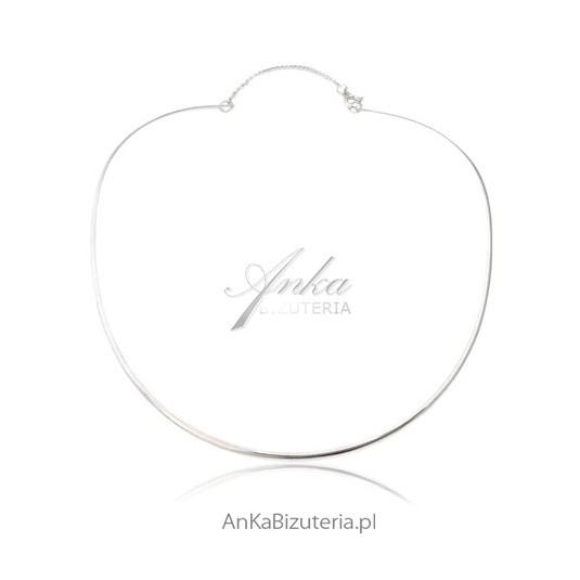 Naszyjnik srebrny - obroża srebrna