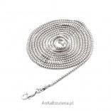 Łańcuszek srebrny rodowany 50 cm oraz 60, 70,80 cm -lańcuszek włoski-Etruska