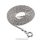 Łańcuszek włoski srebrny rodowany 45 cm do stylowych wisiorków oraz jako samodzielny naszyjnik.