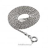 Łańcuszek włoski srebrny rodowany do stylowych wisiorków oraz jako samodzielny naszyjnik.
