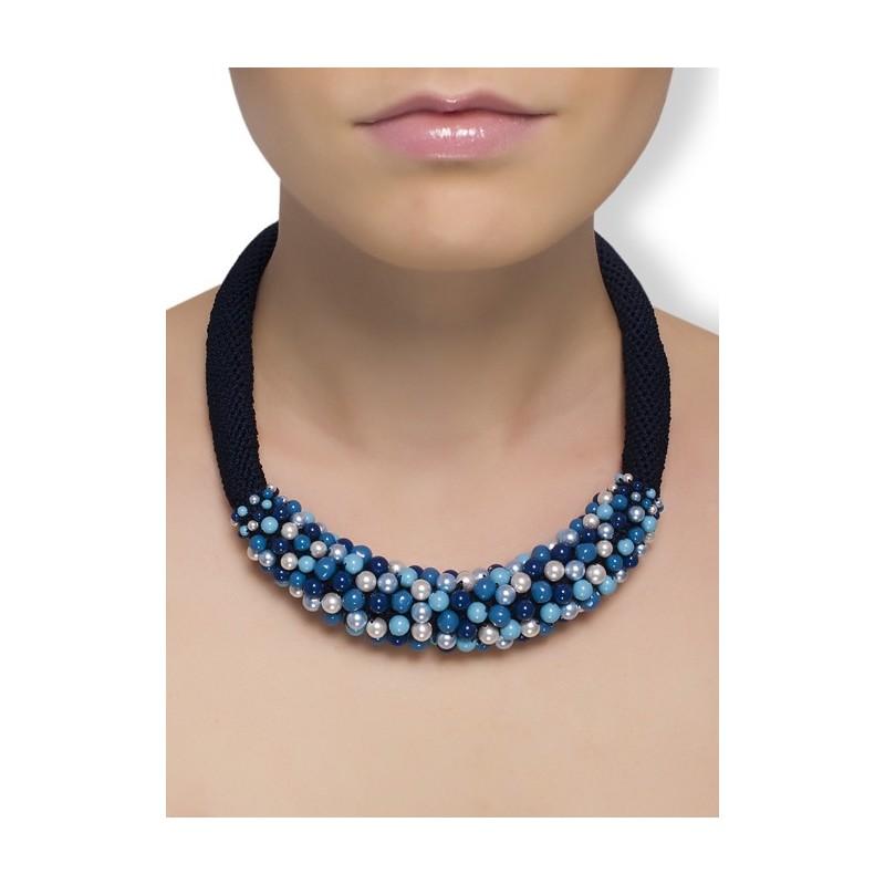 15e48b097041 Rękodzieło biżuteria Swarovski Elegancki naszyjnik z pereł Bransoletka