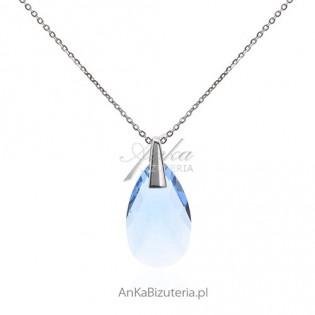 Naszyjnik srebrny z kryształem Swarovski. Piękny naszyjnik Spark.
