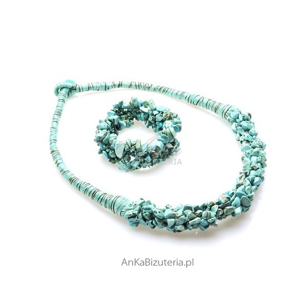 biżuteria z turkusem