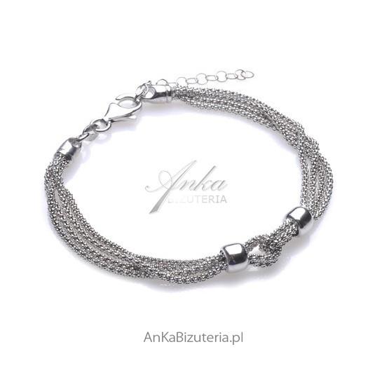 Srebrna bransoletka rodowana. Ekskluzywna biżuteria włoska