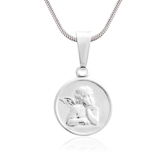 Medalik srebrny - Aniołek