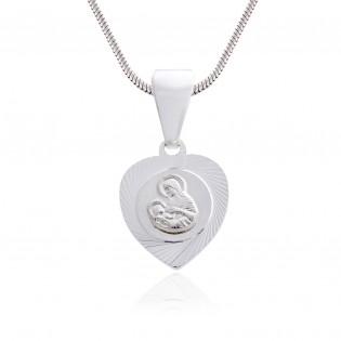 Medalik srebrny. Matka Boska z Dzieciątkiem