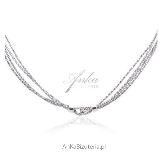 Srebrny naszyjnik rodowany Włoska biżuteria