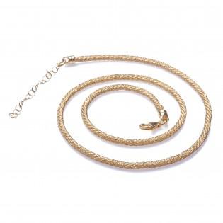 Naszyjnik srebrny pokryty złotem Biżuteria włoska