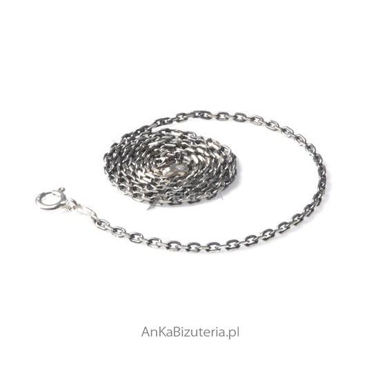 Łańcuszek AnKer oksydowany diamentowany -drobny 0,3
