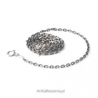 Srebrny Łańcuszek Anker oksydowany 0,75