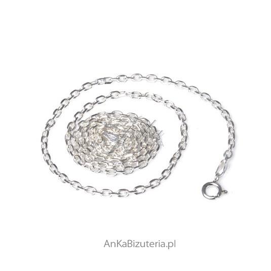 Łańcuszek Srebrny Anker Diamentowy 0,6