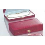 Eleganckie pudełko na biżuterię Skóra ekologiczna czerwona Naszyjnik