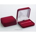 Pudełko na Prezent do biżuterii Welurowe Bordo