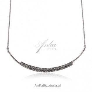 Naszyjnik srebrny z markazytami