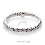 Bransoletka srebrna damska Exklusive biżuteria włoska
