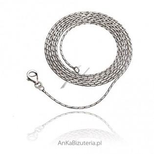 Łańcuszek srebrny oksydowany 70 cm i 80 cm