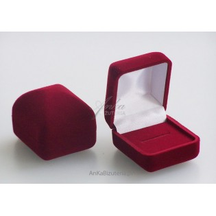 Eleganckie pudełko welurowe do pieścionka