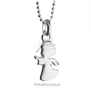 Srebrny aniołek Wisiorek